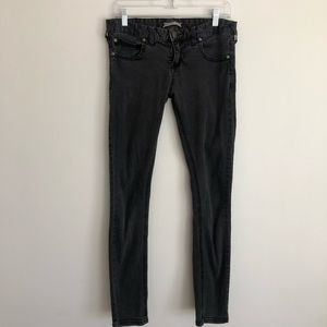 Free People Charcoal/Black Skinny Jeans